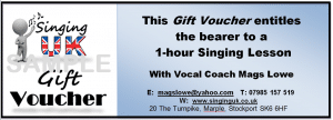 Singing Lessons Gift Voucher